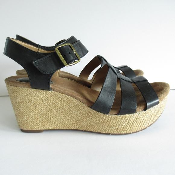 1cf25dbeb018 Clarks Shoes - Clarks Wedge Sandals Woven Platform Heels